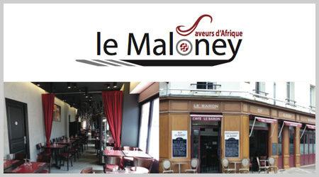 L'agence ekooo crée un flyer pour l'ouverture d'un restaurant Africain à Créteil, le Maloney.