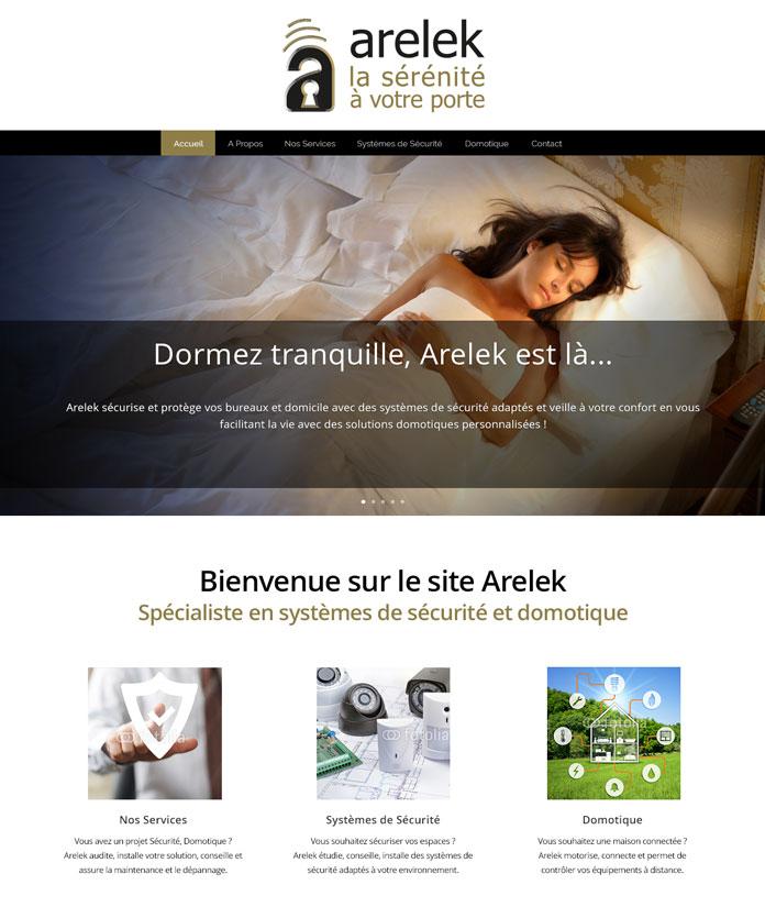 ekooo crée et développe le site Internet d'Arelek
