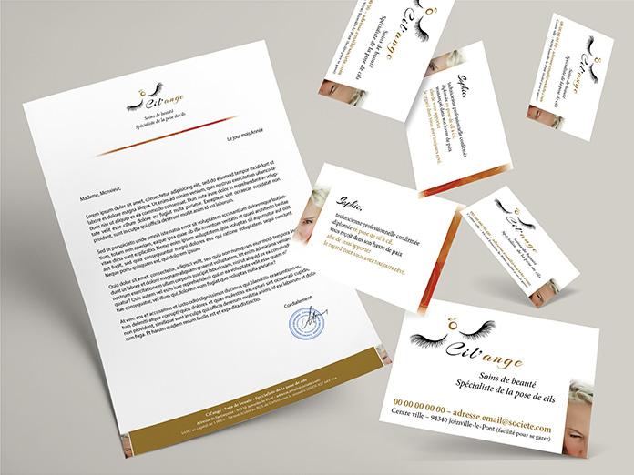 Pack Identité du créateur ekooo (94), création de l'image d'entreprise Cil'ange