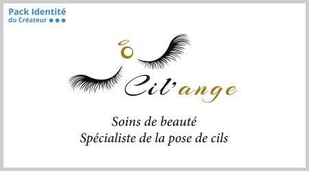 Logo créé pour la société Cil'ange par l'agence ekooo, Maisons-Alfort (94) - Offre Pack Identité du Créateur