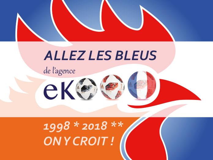 coupe du monde 2018 - Allez les bleus de l'agence ekooo